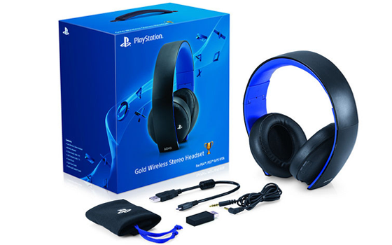 Auriculares Sony Gold Wireless PS4